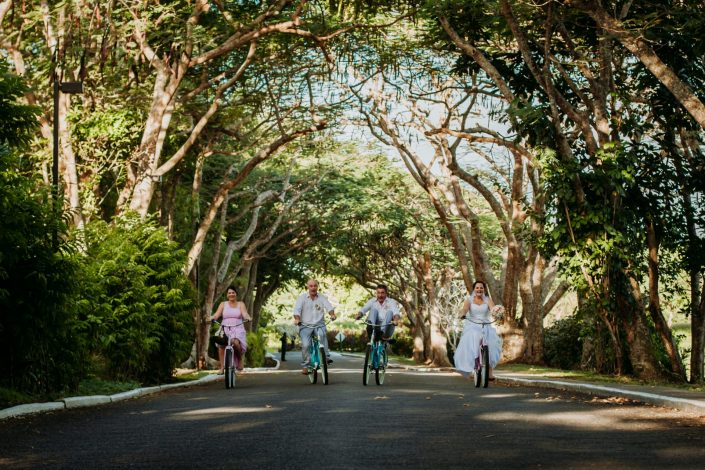 Wedding group on bikes