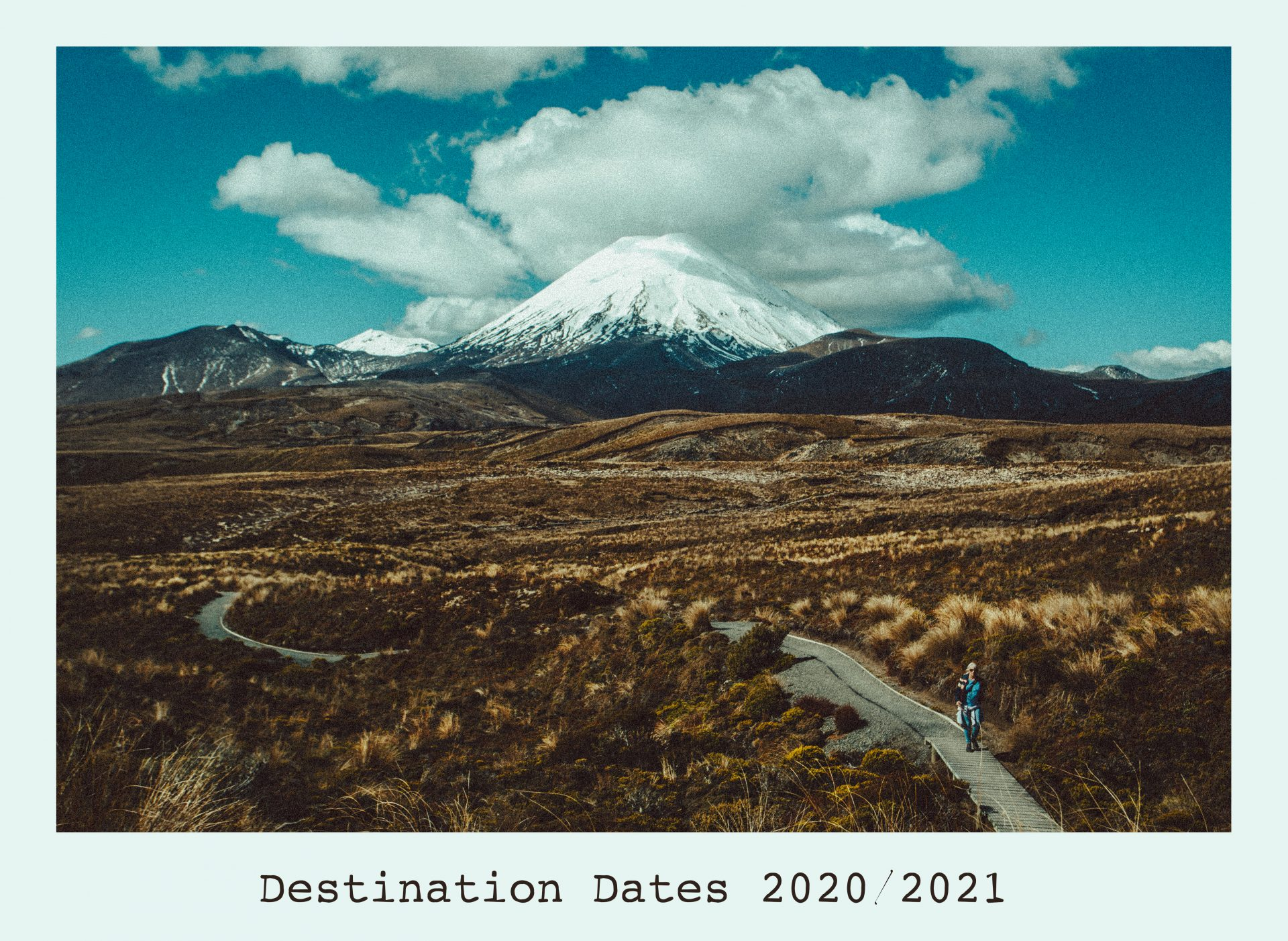 Travel Photography Destination and Dates. New Zealand hiking trail