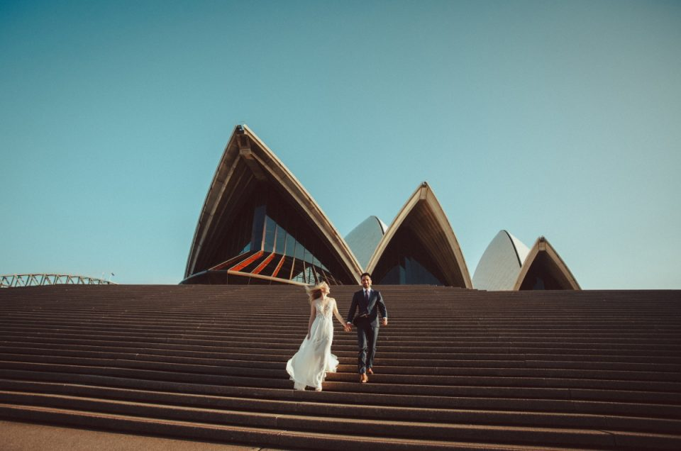 Bride and Groom. Sydney Opera House